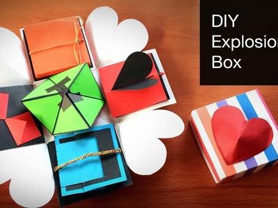 DIY Explosion Box Tutorial | How to Make Explosion Box | Birthday Gift   - Anushree's Craft TV