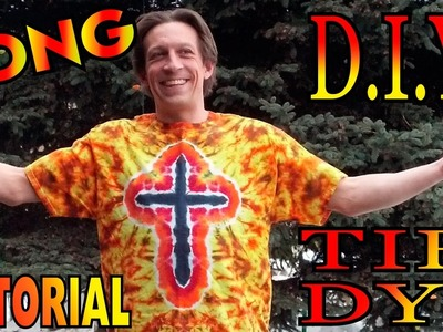 DIY Fire Cross Tie Dye Shirt [Long Tutorial]