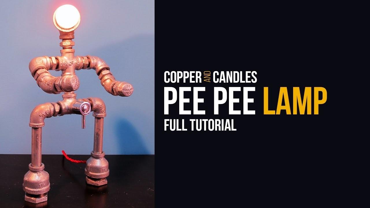 DIY Galvanized Pipe Lamp Industrial Design Water Valve