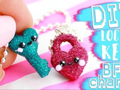 ♡ DIY GLITTER BFF Lock & Key Charms!! ♡   Kawaii Friday