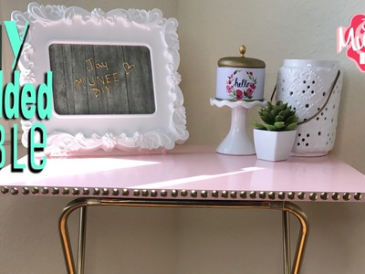 DIY GOLD STUDDED SIDE TABLE | Collab