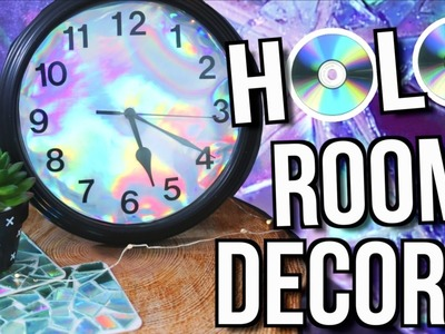 DIY HOLOGRAPHIC ROOM DECOR! Tumblr Inspired!