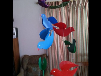 DIY - How to Make Birds out of Plastic Sheets for Home Decor + Tutorial !