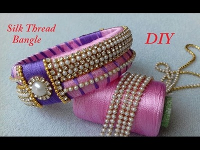 DIY || how to make designer silk thread bridal bangles at home || DIY bridal bangles