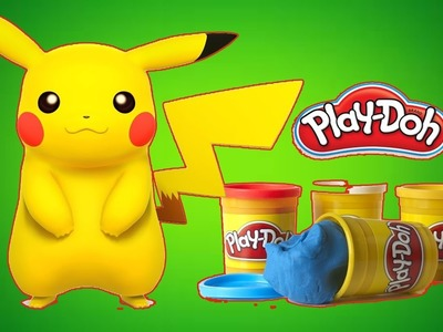 DIY How To Make Pikachu Pokemon go Play Doh fun play Learn colors for children