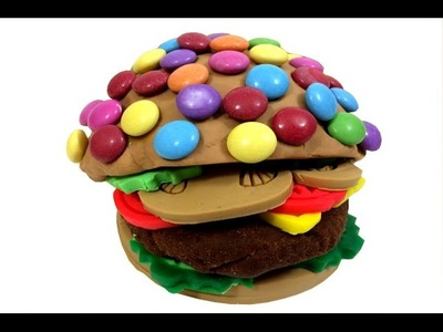 DIY How To Make Play Doh Hamburger Smarties Craft Creative