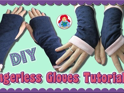 DIY | How to sew Fingerless Gloves • Sami Dolls Step by Step Tutorial