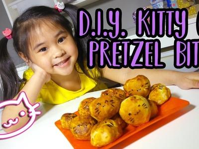 DIY Kitty Cat Pretzel Bites   Easy Mall Pretzel Bites Copy Cat Recipe   Pretzel Recipes for Kids