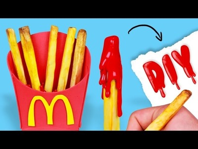 DIY McDonald's French FRIES PENS - Weird School Supplies!