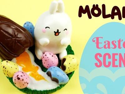 ????DIY MOLANG Miniature Easter Environment-Polymer Clay Tutorial-Cadbury Egg