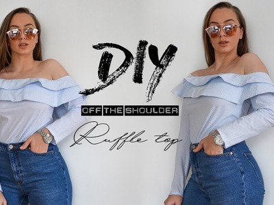 DIY Off The Shoulder Ruffle Top