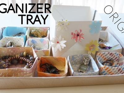 DIY: ORGANIZER TRAY WITH ORIGAMI BOXES????HOW TO MAKE PAPER BOXES (Crafty Nica)