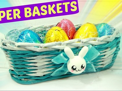DIY Paper baskets Easter. Easy crafts.