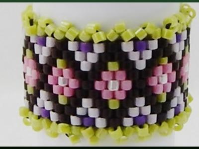DIY Peyote odd count | Perlen Schmuck basteln | Beaded delica ring tutorial | jewellery