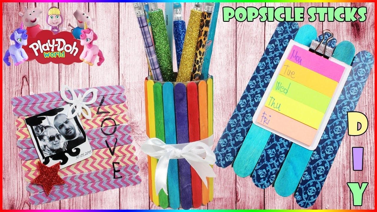 DIY Popsicle Sticks Craft | How To Make Rainbow Pencil Box | Photo Frame