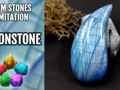 DIY Rainbow Moonstone Gem. Polymer Clay Gemstone imitation technique. VIDEO Tutorial!