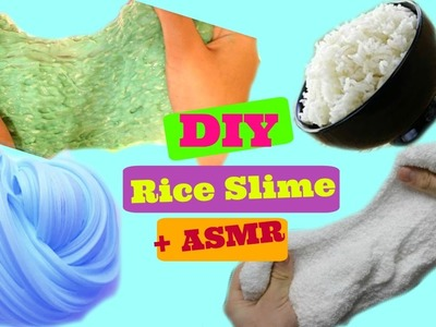 DIY Rice Slime Without Borax|How Make Rice Slime Without Borax + ASMR