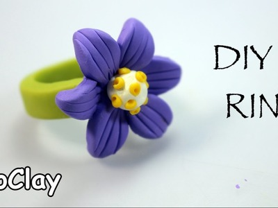DIY Ring flower - Polymer clay tutorial