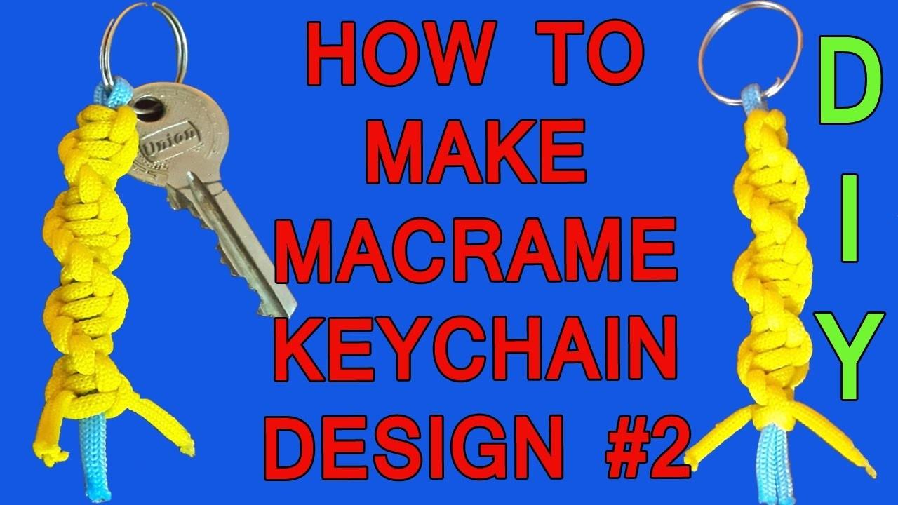 DIY Simple Handmade Macrame Keychain Design #2 | How to make Macrame Keychain Tutorial