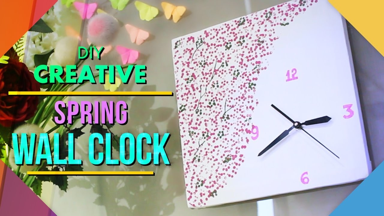 Diy Spring Wall Decor : Diy spring wall clock home decor my crafts and projects
