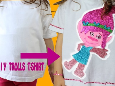 DIY t-shirt tutorial  inspired by princess Poppy Trolls