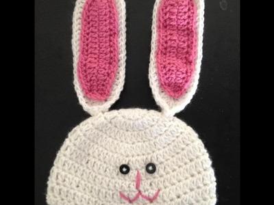 DIY tutorial - Crochet - bunny hat - bunny beanie- Easter - holiday- Tamil