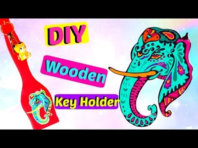 DIY Wooden Key Holder. Hanger | Craft Ideas | Art and Craft at home