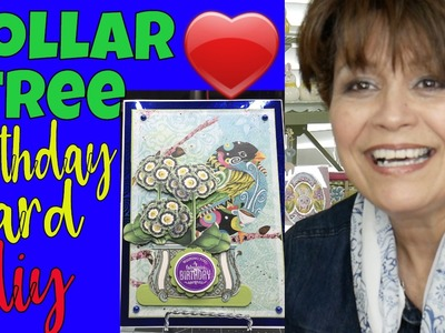 ????????????Dollar Tree DIY Birthday Card!  Save, Save, Save! How to make a Birthday Card, DT Supplies