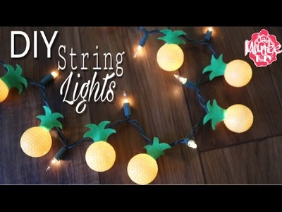 Dollar Tree DIY Pineapple String Lights