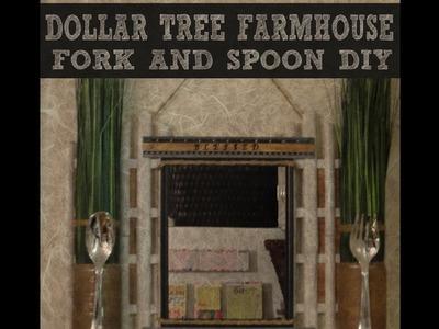 DOLLAR TREE FARMHOUSE FORK AND SPOON DIY