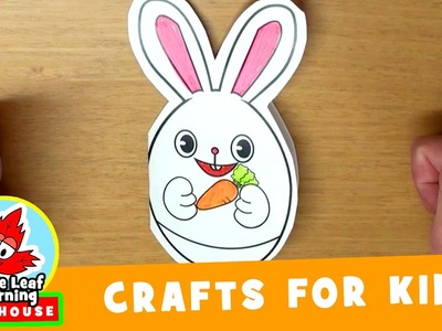 Easter Bunny Card Craft for Kids | Maple Leaf Learning Playhouse