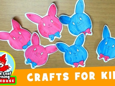 Easter Bunny Decoration Craft for Kids | Maple Leaf Learning Playhouse