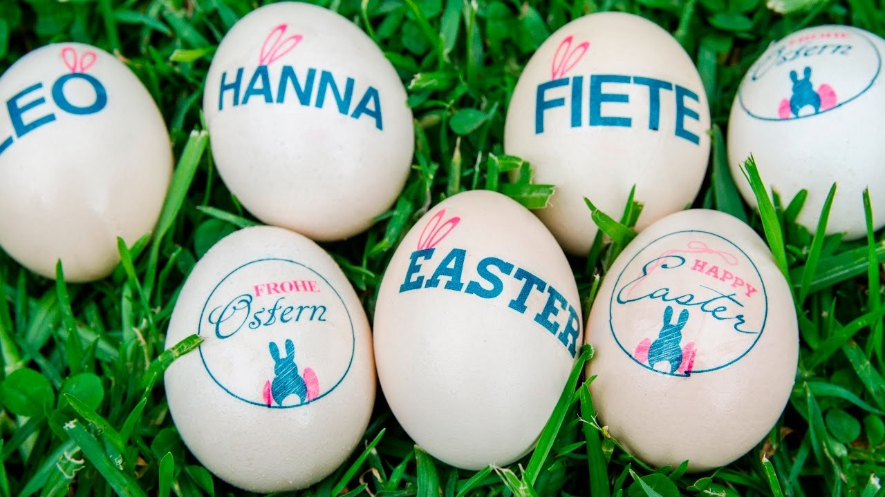 Easter Craft:  How to print or transfer images onto Easter Eggs