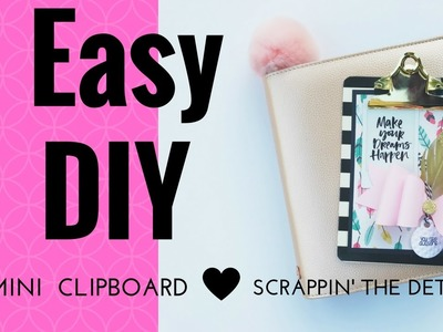 Easy DIY Mini Clipboard Tutorial using the Sizzix French Bow Die