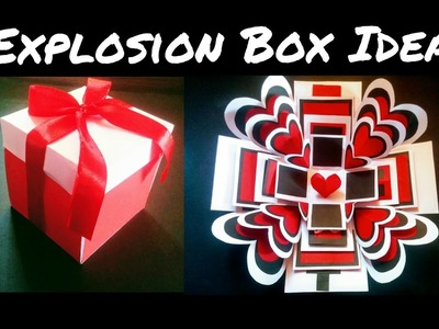 Explosion Box Tutorial | DIY | Anniversary. Valentines Gift Idea