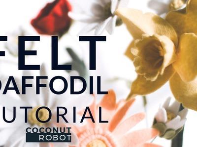 Felt Flower Tutorial DIY: Daffodil (simple + easy!) A Flower Making DIY How-To Video