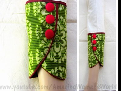 Full Length PETAL | TULIP Sleeve for Kurti | Kameez | Dress| DIY || AWW#279