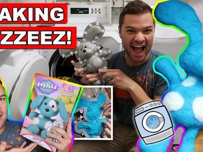 Fuzzeez Blue Dog DIY Plush Craft - The Stuffed Animal You Make In The Laundry!