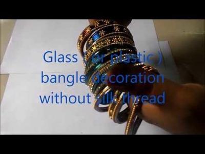 Glass bangles craft | decoration ideas without  silk thread | Sudha Balaji