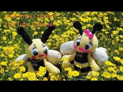 Helenmay Crochet Amigurumi Bee Part 1 of 3 DIY Video Tutorial