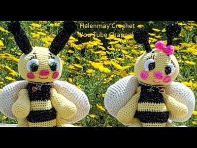 Helenmay Crochet Amigurumi Bee Part 2 of 3 DIY Video Tutorial