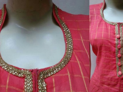 High collar neck DIY| Collar neck cutting and stitching