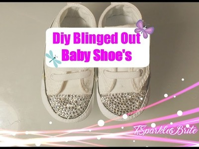 How To Bling Out Converse Baby Shoe's April 2017