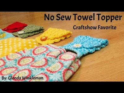 How To Crochet - Quick & Easy - (No Sew) Towel Topper!