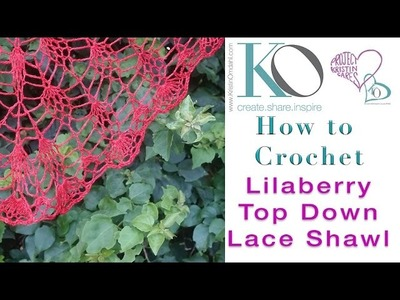How to Crochet SLOWER for Beginners Lilaberry Shawl Top Down Mini Pineapple Lace Chart