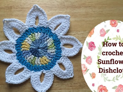 How to crochet Sunflower dishcloth
