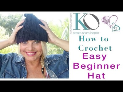 How to Crochet Tender Reina Easy and Fast Beginner Hat in Rows All sizes