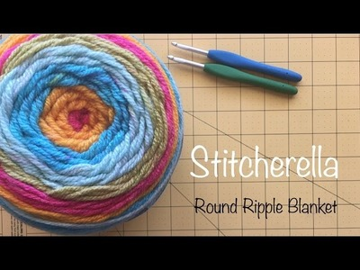 How to Crochet the Beginner's Round Ripple 12 Point Blanket | Stitcherella