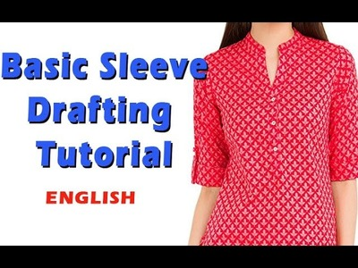 How to cut a kurti sleeve, Basic kurti Sleeve Drafting tutorial DIY (English) Sleeve