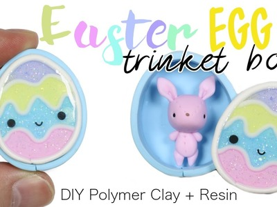 How to DIY Easter Egg Trinket Box Polymer Clay Resin Tutorial